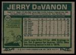 1977 Topps #283  Jerry DaVanon  Back Thumbnail