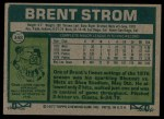 1977 Topps #348  Brent Strom  Back Thumbnail