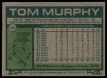 1977 Topps #396  Tom Murphy  Back Thumbnail