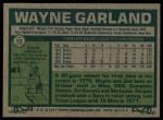 1977 Topps #33  Wayne Garland  Back Thumbnail