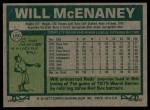 1977 Topps #160  Will McEnaney  Back Thumbnail