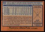 1978 Topps #233  Dick Pole  Back Thumbnail