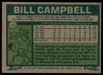 1977 Topps #166  Bill Campbell  Back Thumbnail