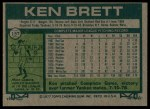 1977 Topps #157  Ken Brett  Back Thumbnail