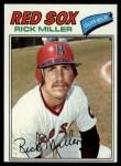 1977 Topps #566  Rick Miller  Front Thumbnail