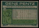 1977 Topps #308  Gene Pentz  Back Thumbnail