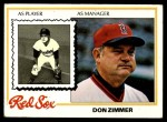 1978 Topps #63  Don Zimmer  Front Thumbnail