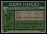 1977 Topps #296  Don Hood  Back Thumbnail