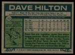 1977 Topps #163  Dave Hilton  Back Thumbnail