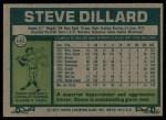 1977 Topps #142  Steve Dillard  Back Thumbnail