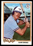 1978 Topps #344  Sam Ewing  Front Thumbnail