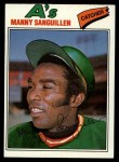 1977 Topps #61  Manny Sanguillen  Front Thumbnail