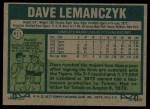 1977 Topps #611  Dave Lemanczyk  Back Thumbnail