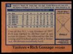 1978 Topps #70  Goose Gossage  Back Thumbnail