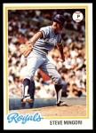 1978 Topps #696  Steve Mingori  Front Thumbnail