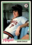 1978 Topps #178  Dave Chalk  Front Thumbnail