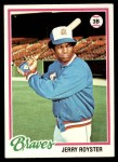 1978 Topps #187  Jerry Royster  Front Thumbnail