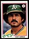 1978 Topps #298  Tony Armas  Front Thumbnail