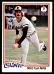 1978 Topps #341  Mike Flanagan  Front Thumbnail