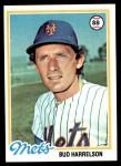 1978 Topps #403  Bud Harrelson  Front Thumbnail