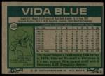 1977 Topps #230  Vida Blue  Back Thumbnail