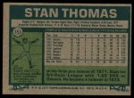 1977 Topps #353  Stan Thomas  Back Thumbnail