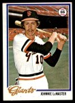 1978 Topps #538  Johnnie LeMaster  Front Thumbnail