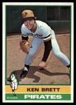 1976 Topps #401  Ken Brett  Front Thumbnail