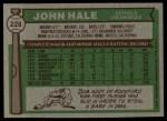 1976 Topps #228  John Hale  Back Thumbnail
