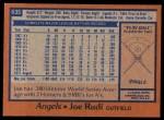 1978 Topps #635  Joe Rudi  Back Thumbnail