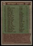 1976 Topps #361   -  Ralph Houk Tigers Team Checklist Back Thumbnail