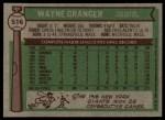 1976 Topps #516  Wayne Granger  Back Thumbnail
