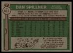 1976 Topps #557  Dan Spillner  Back Thumbnail