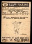 1959 Topps #50  Ollie Matson  Back Thumbnail
