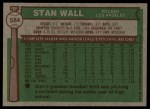 1976 Topps #584  Stan Wall  Back Thumbnail
