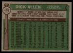 1976 Topps #455  Rich Allen  Back Thumbnail