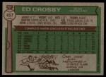 1976 Topps #457  Ed Crosby  Back Thumbnail