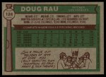1976 Topps #124  Doug Rau  Back Thumbnail