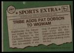 1976 Topps Traded #296 T Pat Dobson  Back Thumbnail