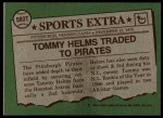1976 Topps Traded #583 T Tommy Helms  Back Thumbnail