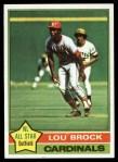 1976 Topps #10  Lou Brock  Front Thumbnail