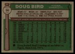 1976 Topps #96  Doug Bird  Back Thumbnail