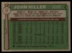 1976 Topps #37  John Hiller  Back Thumbnail