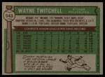 1976 Topps #543  Wayne Twitchell  Back Thumbnail