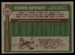 1976 Topps #630  Chris Speier  Back Thumbnail