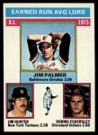 1976 Topps #202   -  Jim Palmer / Catfish Hunter / Dennis Eckersley AL ERA Leaders   Front Thumbnail