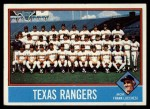 1976 Topps #172   -  Frank Lucchesi Rangers Team Checklist Front Thumbnail