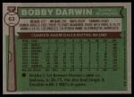 1976 Topps #63  Bobby Darwin  Back Thumbnail