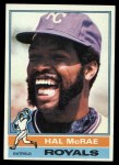 1976 Topps #72  Hal McRae  Front Thumbnail
