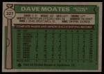 1976 Topps #327  Dave Moates  Back Thumbnail